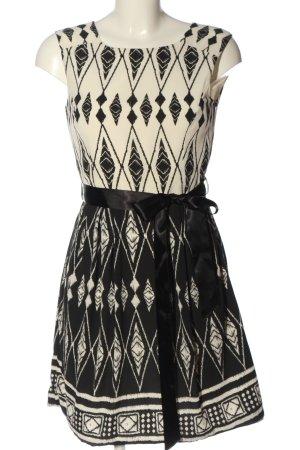 The Hackbarth's Mini Dress white-black graphic pattern casual look