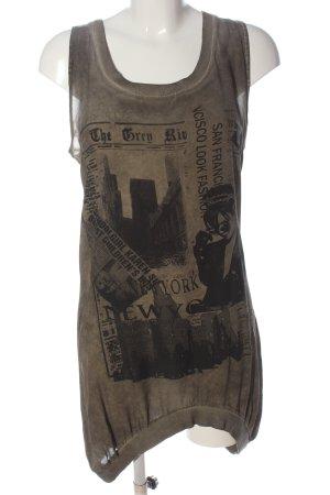 The Hackbarth's Shirt Dress light grey-black themed print casual look