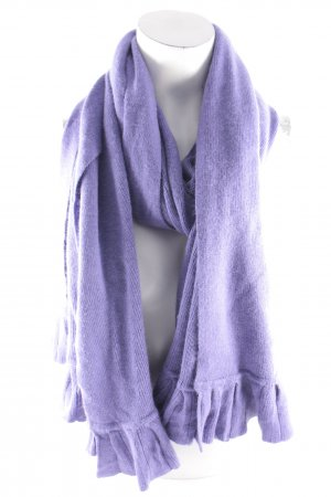 The Hackbarth's Écharpe en tricot violet style décontracté