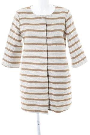 The Hackbarth's Übergangsjacke beige-creme Streifenmuster Casual-Look