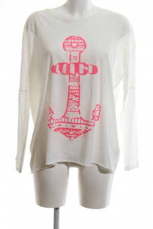 the hip tee Print-Shirt weiß-pink Motivdruck Casual-Look