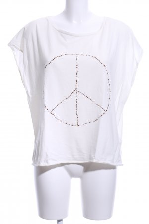 the hip tee T-Shirt weiß Motivdruck Casual-Look