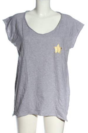 the hip tee T-Shirt hellgrau meliert Casual-Look