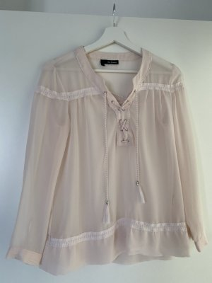 The Kooples Bluse rosa nude spitze xs 34