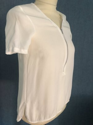 The Kooples Bluse Seide Gr. 34 weiß neu
