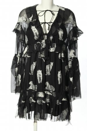 The Kooples Blouse Dress black-white allover print casual look