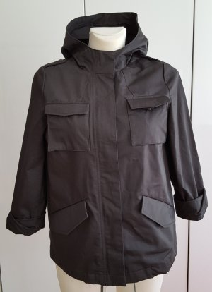 The Kooples Damen Baumwoll Winter-Parka Jcke 3/4 Ärmel Gr. L
