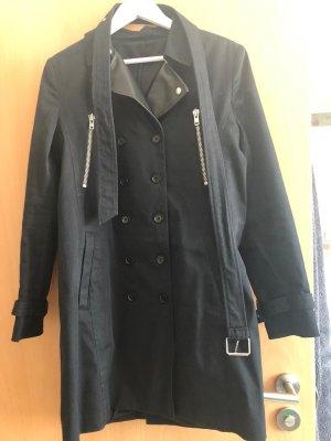 The Kooples Damen Trenchcoat schwarz