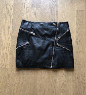 The Kooples Falda de cuero negro Cuero