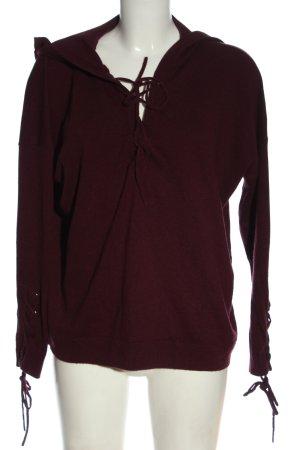 The Kooples Sweter z kapturem brązowy W stylu casual
