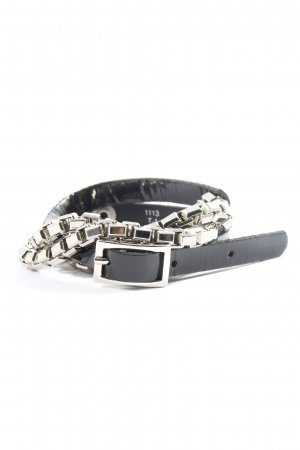 The Kooples Chain Belt black-silver-colored casual look