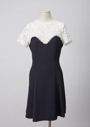 The Kooples Kleid, schwarz, weis, Gr S