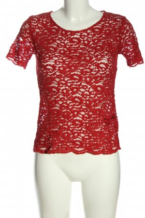 The Kooples Kurzarm-Bluse rot Casual-Look
