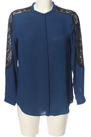 The Kooples Langarm-Bluse blau Business-Look