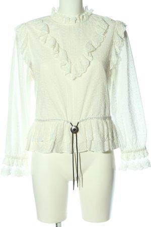 The Kooples Camicetta a maniche lunghe bianco sporco stile casual