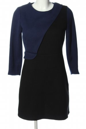 The Kooples Langarmkleid schwarz-blau Business-Look