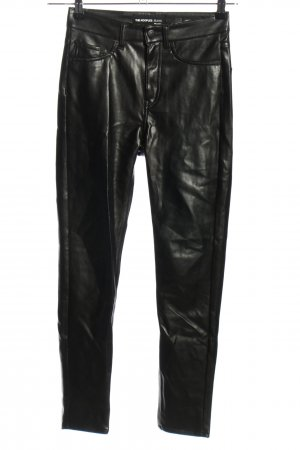 The Kooples Lederhose schwarz Casual-Look