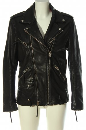 The Kooples Giacca in pelle nero stile casual