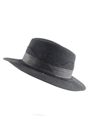 The Kooples Panama hoed zwart zakelijke stijl