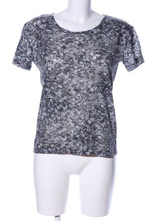 The Kooples Print-Shirt hellgrau-schwarz Allover-Druck Casual-Look