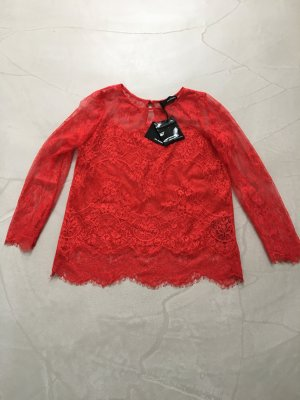 "*The Kooples"" Rotes Top aus Spitze / Gr. S"