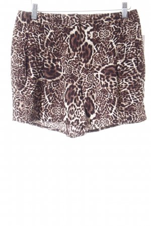 The Kooples Shorts braun-creme Leomuster Animal-Look