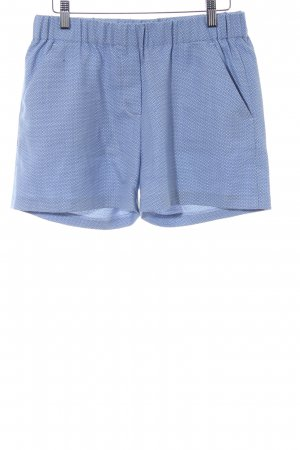 The Kooples Shorts himmelblau-weiß abstraktes Muster Logo-Applikation