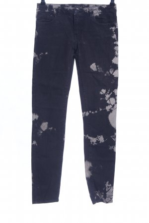 The Kooples Skinny Jeans schwarz-hellgrau abstraktes Muster Casual-Look