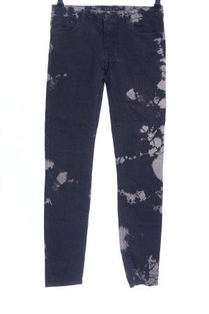 The Kooples Skinny Jeans schwarz-hellgrau abstraktes Muster Casual-Look