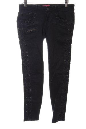 The Kooples Skinny Jeans schwarz extravaganter Stil