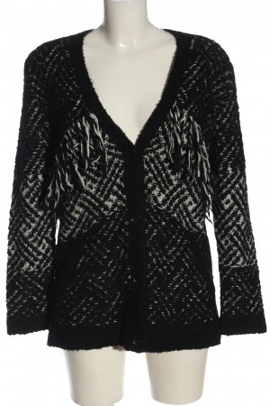The Kooples Knitted Cardigan black-white flecked elegant