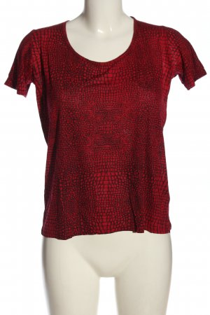 The Kooples T-shirt rosso-nero puntinato stile casual