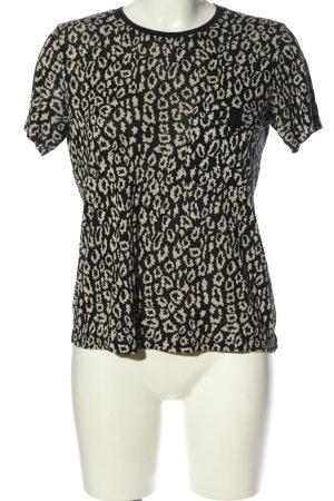 The Kooples T-Shirt schwarz-hellgrau Allover-Druck Casual-Look