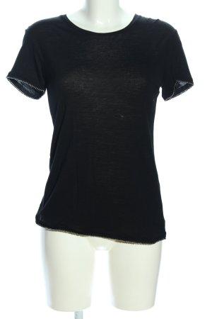 The Kooples T-Shirt schwarz Casual-Look