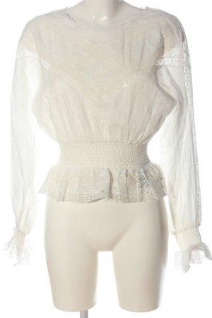 The Kooples Blusa trasparente bianco sporco elegante