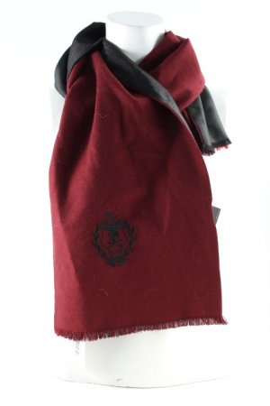The Kooples Wollschal schwarz-bordeauxrot klassischer Stil