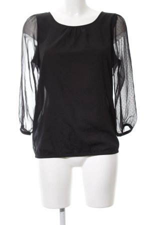 The Limited Transparenz-Bluse schwarz Punktemuster Business-Look