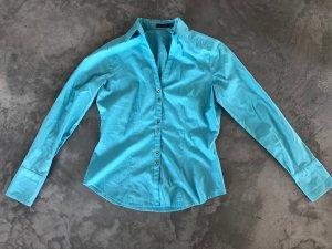 The Limited US Designermarke schöne schicke blaugrüne Bluse / Hemd mit V-Ausschnitt Modern gr. S