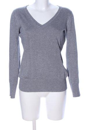 The Limited V-Ausschnitt-Pullover hellgrau meliert Casual-Look