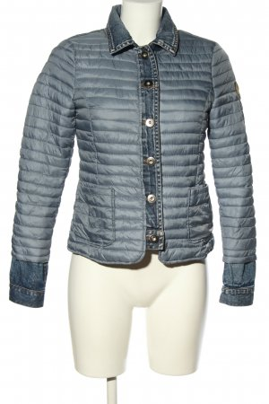 The Love Brand Quilted Jacket light grey quilting pattern casual look