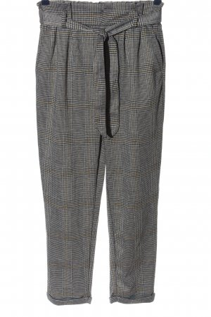 The Love Tree High Waist Trousers light grey-black allover print casual look