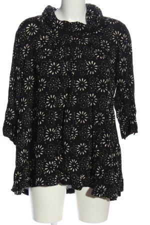 The Masai Clothing Company Schlupf-Bluse schwarz-weiß abstraktes Muster