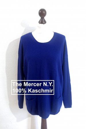 (The Mercer) NY Pull en cashemire bleu cachemire