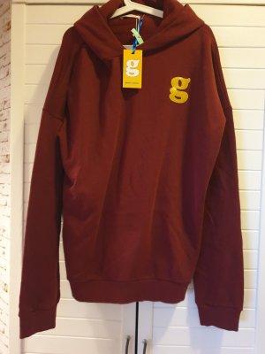 (The Mercer) NY Sweatshirt met capuchon bordeaux-roodbruin