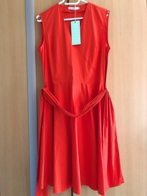 (The Mercer) NY Robe portefeuille rouge coton