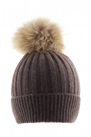 (The Mercer) NY Beanie bruin casual uitstraling