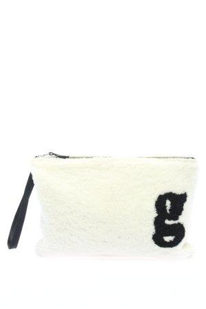 (The Mercer) NY Bolso de mano blanco-negro letras impresas look casual