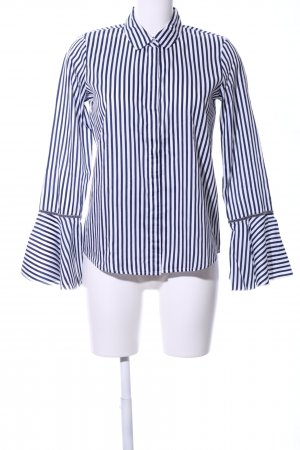 (The Mercer) NY Hemdblouse wit-blauw gestreept patroon casual uitstraling
