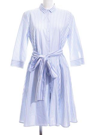 (The Mercer) NY Hemdblousejurk wit-blauw gestreept patroon casual uitstraling