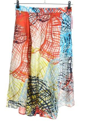 (The Mercer) NY Falda de talle alto estampado con diseño abstracto look casual